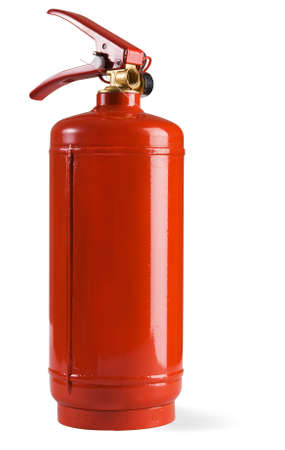 foam safe: Fire extinguisher isolated on white background