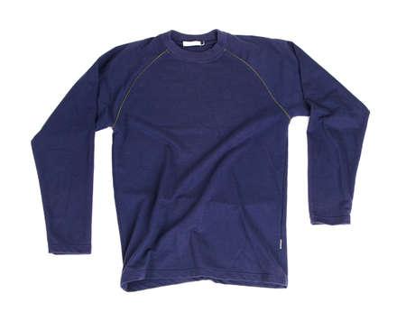 Blue long sleeve shirt isolated on white background Stock Photo - 7355494