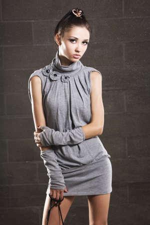 Beautiful slim model studio  photo
