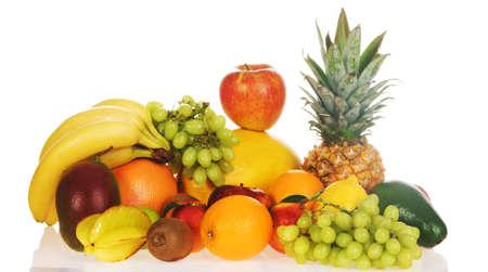 Colorful fresh fruits isolated on white background Stock Photo - 7805800