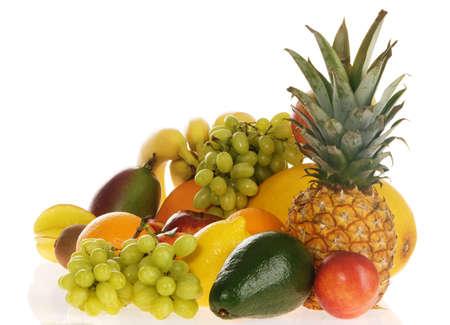 Colorful fresh fruits isolated on white background Stock Photo - 7805260