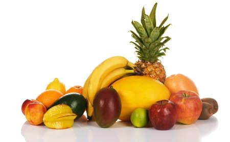 Colorful fresh fruits isolated on white background  Stock Photo - 7805254