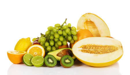 Plenty of fresh fruits on white background  Stock Photo - 7805253
