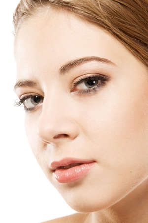 Closeup face portrait of a beautiful young woman Stock Photo - 8218497