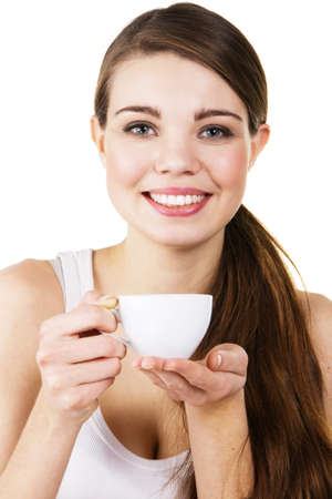 Young beautiful woman drinking morning coffee Stock Photo - 8653465