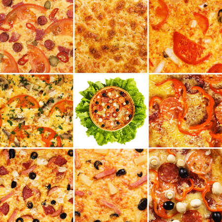 Set of different pizzas Stock Photo - 9306352