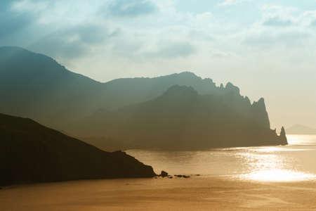Sunrise over the sea, Crimea peninsula, Ukraine photo