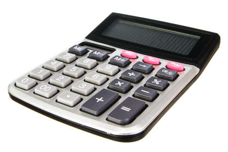 Generic calculator isolated on white background photo