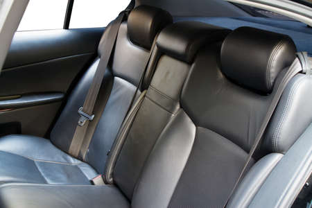 Leather back car seats with active headrest photo