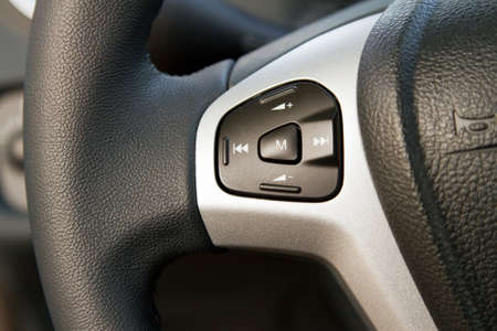 Audio control knob on a steering wheel Stock Photo - 11208889