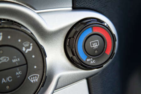 Conditioner and air flow control in a modern car Stock Photo - 11208888