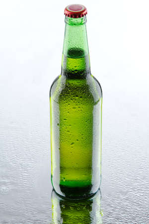 Beer bottles isolated on white background, studio still-life Stock Photo - 12730902