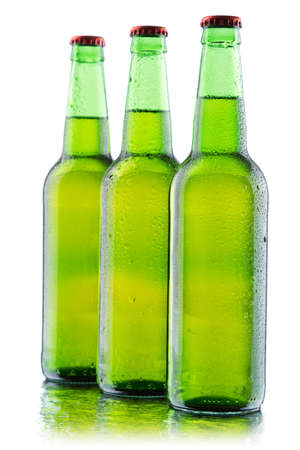 Beer bottles isolated on white background, studio still-life Stock Photo - 12730911