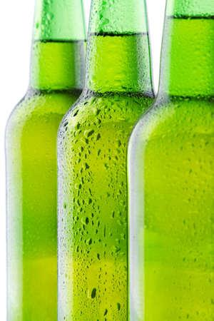 Beer bottle background  photo