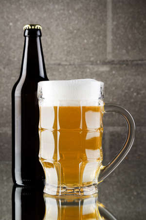 Beer still life, studio photo Stock Photo - 12730739