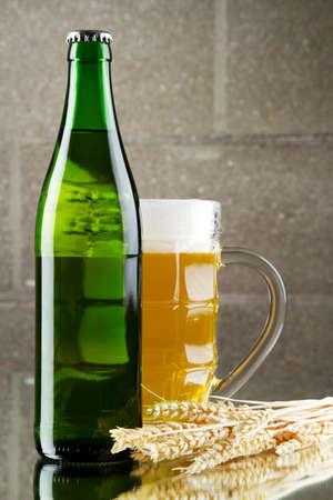 Beer still life, studio photo photo