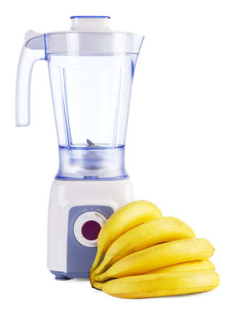 Electric blender isolated on white background photo