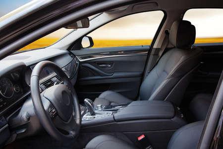armrest: New modern sport car interior Stock Photo