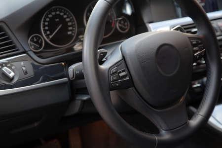 New modern sport car interior photo