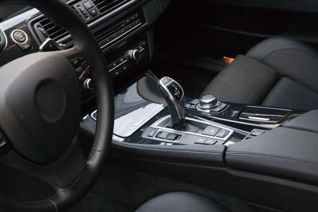 dash: New modern sport car interior Stock Photo