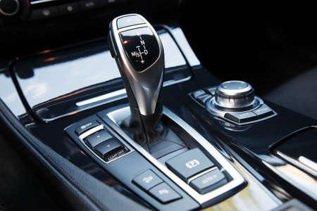 New modern sport car interior details
