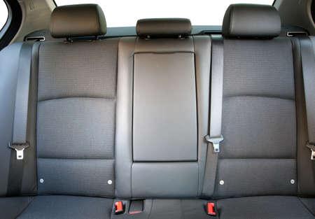 Back passenger car seats in a luxury car Фото со стока