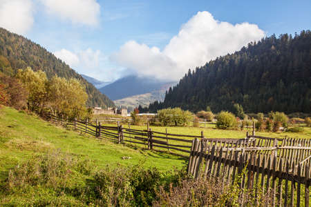 Beautiful Autumn in the Carpathian Mountains Landscape photo