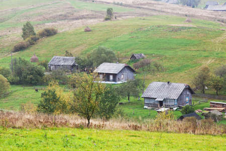 Beautiful Autumn in the Carpathian Mountains Landscape
