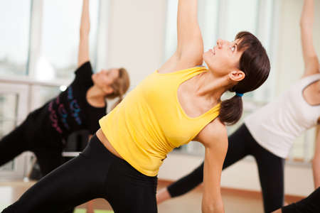 Group training in a gym of a fitness center Stock Photo