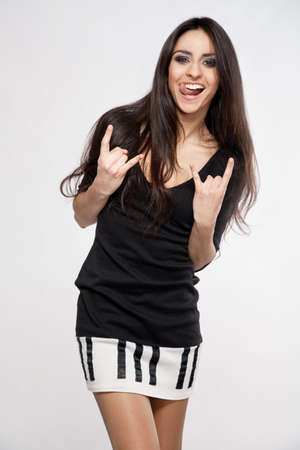 Rock style beautiful young woman Stock Photo - 17499941