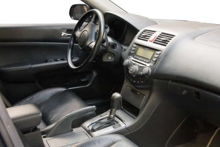 Modern car interior - front seats photo