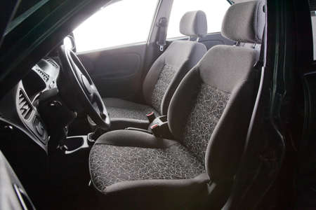 Car seats - grey textile photo