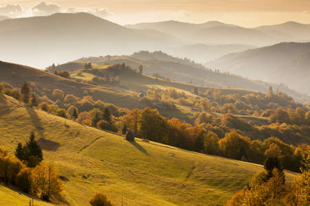 Carpathian mountains landscape photo