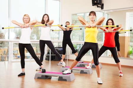 Group training in a fitness class photo