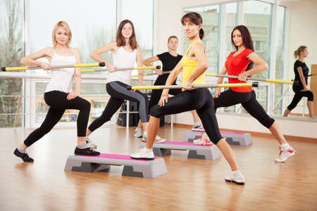 Group training in a fitness class Stock Photo - 18152670