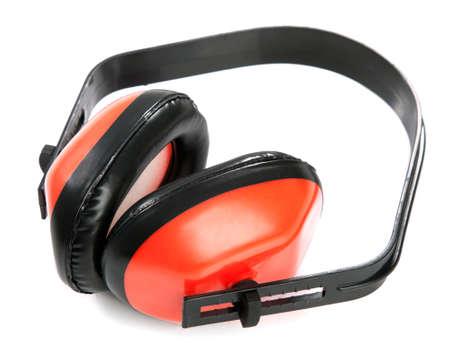 Protective earplugs on white background Stock Photo