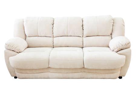 Sofa isolated on white background photo