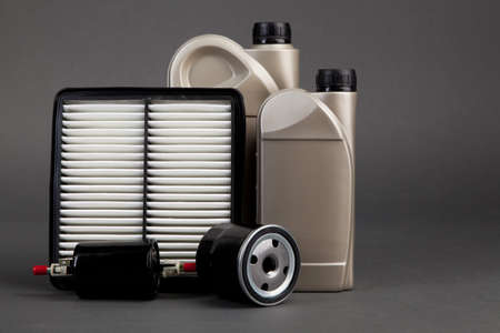 Motor oil containers photo