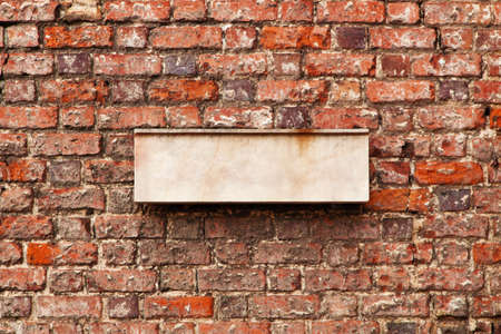 Blank space for sign on a brick wall Stock Photo - 22668282