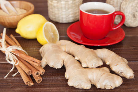 Ginger tea still life photo