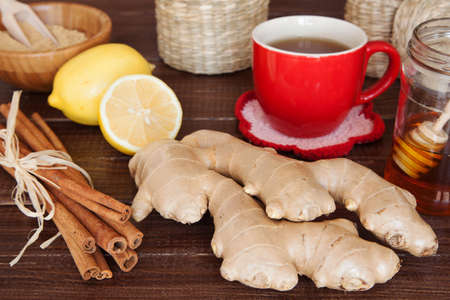 Ginger tea still life Stock Photo - 23240476