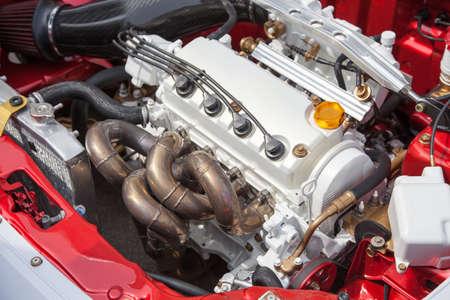 Car engine - under the hood photo