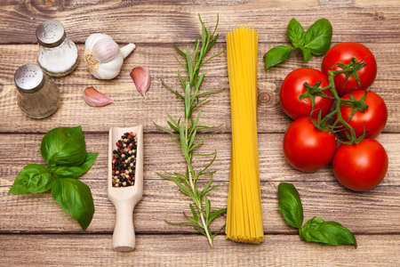Traditional spaghetti sauce ingredients photo
