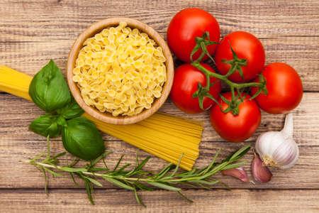 Traditional spaghetti sauce ingredients photo