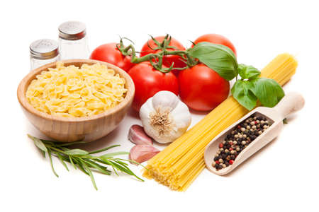 spaghetti saus: Traditionele spaghettisaus ingrediënten Stockfoto