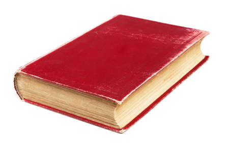 Red book isolated on white background photo