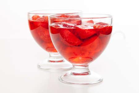 strawberry jelly: Strawberry jelly dessert