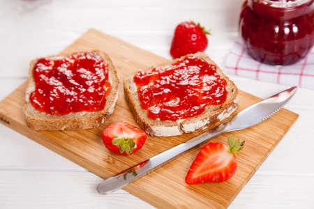 Delicious strawberry jam Stok Fotoğraf