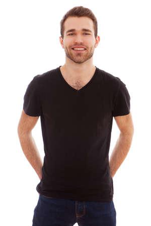 Portret van een jonge man geïsoleerd op witte achtergrond