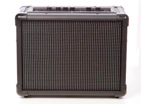 superdirecta: Amplificador de guitarra aislado sobre fondo blanco Foto de archivo